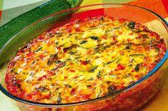 Sufleu de dovlecei | Retete culinare - Romanesti si din Bucataria internationala Romanian Food, Quick Easy Meals, Quiche, Breakfast Recipes, Main Dishes, Food And Drink, Keto, Flan, Kitchen