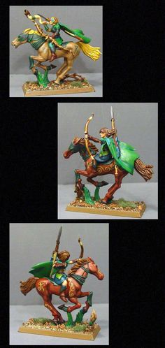 Elves, Glade Rider, Green, Hippy, Wood, Woodelf - like the idea of the tattoos on the horses!
