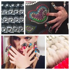 CND unveiled an eye-catching collection of hand-crafted nail designs at the Fall/Winter 2016 2016 Libertine show! What do you think of this wildly playful fashion collaboration? #CNDatFashionWeek