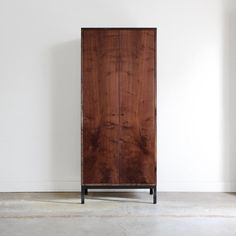 I'm in lust. The Farmhouse Modern Cupboard from Seattle-based American furniture and design studio Chadhaus. Solid wood case (avail in 5 wood finishes!!), custom-veneered doors, solid wood shelves and soft-closing/self closing hardware on the doors and drawer. 80h x 36w x 18d. $4000. Handcrafted in the USA. via Chadhaus