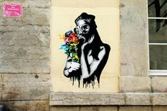 STREET ART UTOPIA » We declare the world as our canvas » Street Art by Goin in Lyon, France -Fukushima Flowers