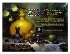Larry Clingman Still Life Oil Painting Workshop Nov 2012