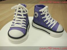 Converse Step by Step Tutorial (made out of gum paste)