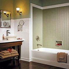 wainscot tub surround - Google Search