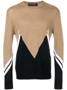 Neil Barrett Sweaters and knitwear for Men Preppy Trends, Monochrome Color, Zig Zag Pattern, Neil Barrett, Knitwear, Menswear, Man Shop, Mens Fashion, Crop Tops