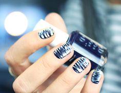 Marble nail art - Essie After school boy blazer
