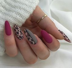 This matte nails is beautiful nails. Acrylic nails is perfect for autumn nails, pretty nails and cute nails. What a beautiful nails color in autumn! Save this 20 Elegant Almond Matte Nail Inspo Fall/Winter - Wine Peach Gary Leopard Almond Matte nail! Acrylic Nails Natural, Almond Acrylic Nails, Fall Acrylic Nails, Autumn Nails, Natural Nails, Acrylic Gel, Fall Almond Nails, Crackle Nails, Matte Nail Art