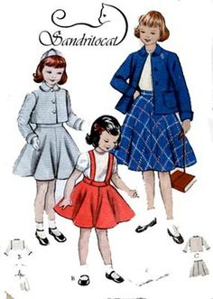 Vintage 50s Butterick 6235 Toddlers SUNDAY BEST by sandritocat, $14.00