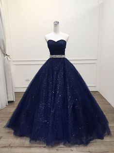 New Arrival Navy Blue Sequin Long Prom Dress, Custom Made Women Party Gowns ,Long Evening Dress - Style Evening Dresses Cute Prom Dresses, Elegant Dresses, Homecoming Dresses, Formal Dresses, Navy Blue Quinceanera Dresses, Dresses For Girls, Wedding Dresses, Long Dresses, Bridesmaid Dresses