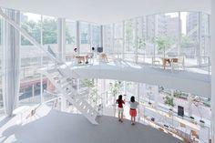 Shibaura Office by Kazuyo Sejima  Tokyo, Japan