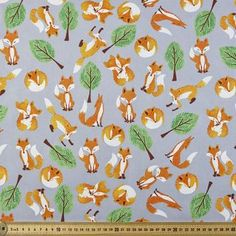 """White Cotton Leaf Printed Dressmaking Fabric Sewing Quilting 42"""" Wide By Metre"""