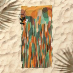 Tropical Meeting Beach Towel by mirimo | Society6