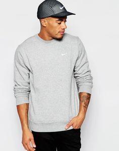 Image 1 ofNike Sweatshirt With Embroidered Swoosh 611467-063