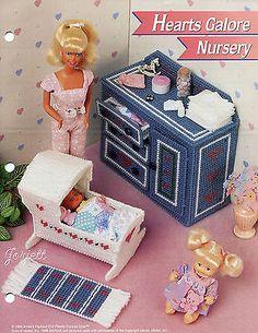 Hearts Galore Nursery, Annie's plastic canvas patterns fit Barbie fashion dolls