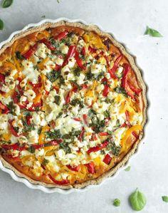 Tærte med oksekød, feta og peberfrugt - Pilens Køkken