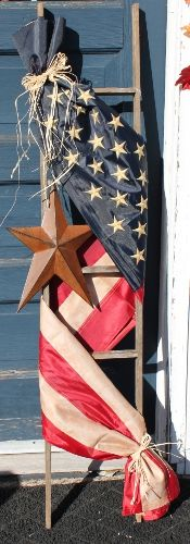 American Flag Ladder: Especially for You Home Decor by Trough Creek Candle Co. I love this !!!