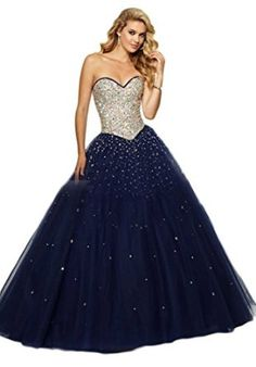 b0ae666686 Chupeng Womens  Sweetheart Crystals Beaded Ball Gown Quinceanera Dresses at Amazon  Women s Clothing store