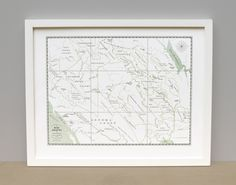 Northern California Wine Country Letterpress Map Art Print, Featuring Napa and Sonoma Counties