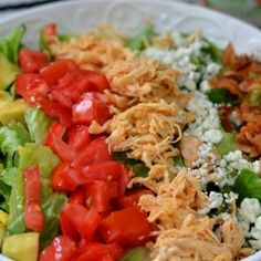 Buffalo Chicken Cobb Salad - All the things we love about buffalo chicken, lightened up.