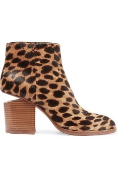 Shop on-sale Alexander Wang Gabi cutout leopard-print calf hair ankle boots. Browse other discount designer Boots & more on The Most Fashionable Fashion Outlet, THE OUTNET.COM