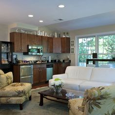 Mother In Law Suite Design Ideas, Pictures, Remodel, and Decor - page 32 Basement Kitchenette, Kitchenette Ideas, Basement Inspiration, Basement Ideas, Basement Walls, Basement Apartment, Basement Remodeling, Home Remodeling Contractors, Traditional Family Rooms
