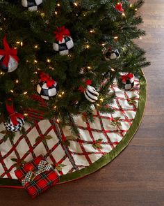 MacKenzie-Childs Tartan Yuletide Christmas Tree Skirt