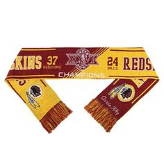 Washington Redskins Super Bowl XXVI On the Fifty Acrylic Scarf - Brought to you by Avarsha.com