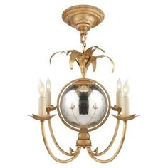 Check out this item at One Kings Lane! Gramercy Mini Chandelier, Gilded Iron