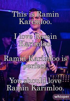 Ramin Karimloo check out my phantom/ramin Instagram account!! Username @ rkisbae.phantomphan