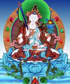 Happiness is an Art. Akasagarbha The Bodhisattva of Infinite Happiness #Thangka Painting