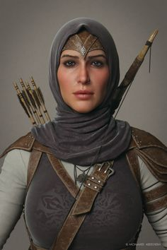 Ghada Cinematic Character close up by mabdelfatah on deviantART