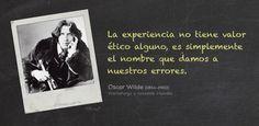 La experiencia según Oscar Wilde (1854-1900) #Frases