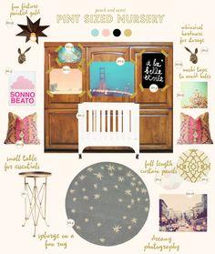 So many great nursery inspiration boards!   Lay Baby Lay
