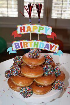 Donut Cake Birthday Cakes Holes Krispy Kreme Alternatives To