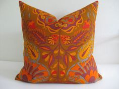 Pillow Cover 1970s Boho Fabric Marrakesh  by theCottageWorkroom, $35.00