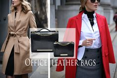 Elegance and simplicity define these precious leather bags, making them the perfect accessories for an office look. Wear them with confidence next to a sophisticated outfit that highlights your feminine power. They will definitely turn the clothes you are wearing into a fabulous appearance!