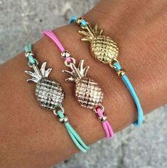 Multi colored pineapple bracelets