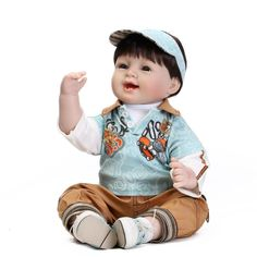 101.00$  Watch here - http://alifz3.worldwells.pw/go.php?t=32793144510 - Reborn Toddler Dolls 22inch Handmade Lifelike Baby Soft Silicone Baby Doll Newborn babies Doll Reborn For Children Brithday gift