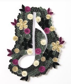 Quilled note - by: an Unknown Quiller