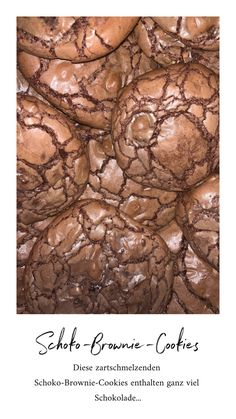 Chocolate Brownie Cookies, Ober Und Unterhitze, November, Chocolate Chip Cookie, Chocolate Brownies, Eten, November Born