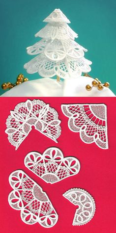 Urban Threads: Unique and Awesome Embroidery Designs Machine Embroidery Projects, Free Machine Embroidery Designs, Embroidery Art, Cross Stitch Embroidery, Creative Embroidery, 3d Christmas, Beaded Christmas Ornaments, Christmas Tree Accessories, Lace Art