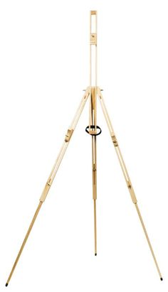The Mont Marte Tripod Easel is a functional easel with telescopic legs for convenient height adjustment and a pivoted central section that can be tilted to achieve the best working angle Table Easel, Art Shed, Art Easel, Tripod, Graffiti, Flooring, Wood, Easels, Tatoos