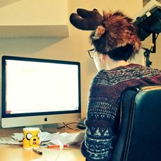 Phil lester is attractive even if he's wearing a moose hat and not facing the camera
