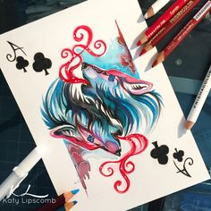 Image discovered by AnaZaral. Find images and videos about drawing, wolf and deviantart on We Heart It - the app to get lost in what you love. Amazing Drawings, Colorful Drawings, Cool Drawings, Amazing Art, Art Plastic, Stippling Art, Muster Tattoos, Gif Disney, Color Pencil Art