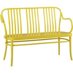 Sonny Yellow Bench in Entryway Benches   Crate and Barrel