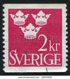 SWEDEN - CIRCA 1939: stamp printed by Sweden, shows Three Crowns, circa 1939.