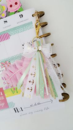 Planner tassels?! Ok I need to make one of those,  like, now...!