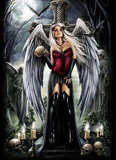 New Gothic Wallpaper Dark Fantasy Victoria Frances 58 Ideas Dark Fantasy Art, Fantasy Kunst, Fantasy Art Women, Fantasy Girl, Fantasy Artwork, Dark Gothic Art, Gothic Artwork, Gothic Angel, Gothic Fairy