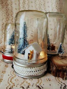 Pico Picot: DIY Light Up Mason Jar Christmas Scene, 2013 Christmas jar lights, Christmas jar lights for 2013