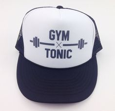 e2d567fcb4aba Gym and Tonic Trucker Adjustable One Size by FreshBatchDes on Etsy Gym And  Tonic